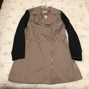 Soia & Kyo Taupe and Black Trench Coat Size XL